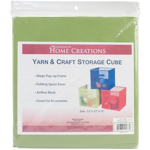 Yarn & Craft Storage Cube Lime Green