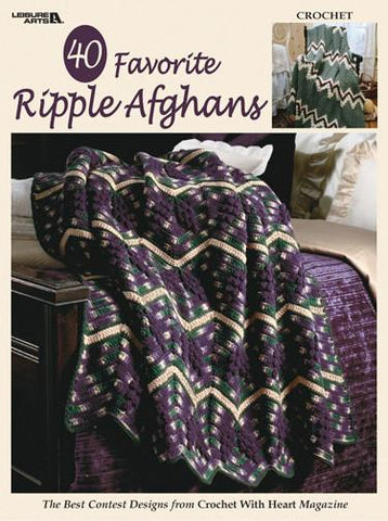 Leisure Arts 40 Favorite Ripple Afghans