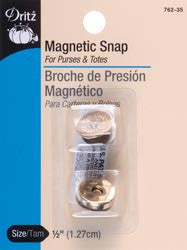 Magnetic Snaps 1/2in Nickel