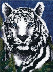 Wonderart Latch Hook Kit White Tiger 24inx34in