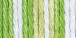Lily Sugar'n Cream Cotton Stripes Yarn Lime