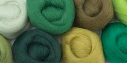 Wool Roving 12in .25 Ounce Jungle