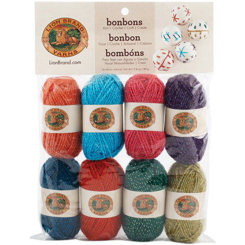Lion Brand Bonbons Yarn Celebrate Metallic