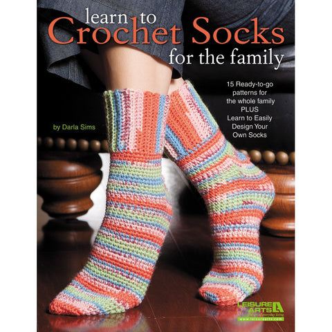 Leisure Arts Learn To Crochet Socks For The Family