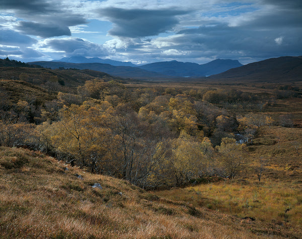 an teallach and beinn ghobhlach mountains from coigach and assynt region of scotland