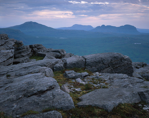assynt and inverpolly mountains canisp cul mor and suilven from quinag