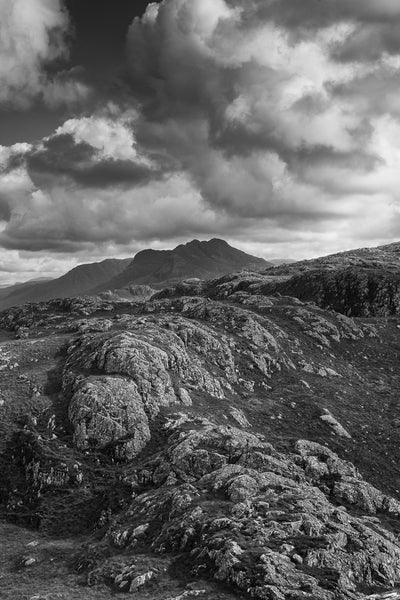 Beinn Dearg Bheag mountain in the Fisherfield Forest