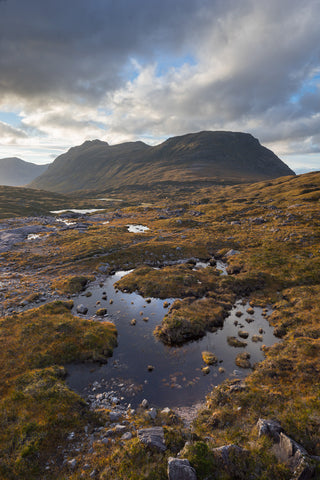 Beinn Dearg mountain in Torridon and Carn na Feola
