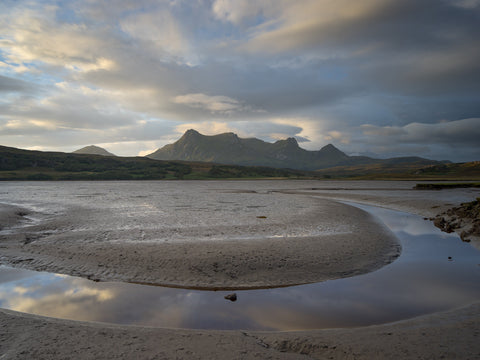Ben Loyal mountain in Sutherland and the Kyle of Tongue