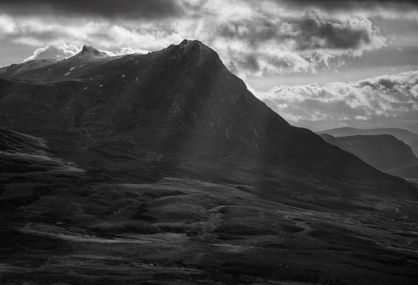 Ben Loyal mountain in Sutherland and dramatic cloud