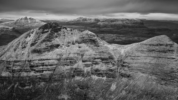 Canisp Cul Mor and Suilven from Quinag Assynt in winter