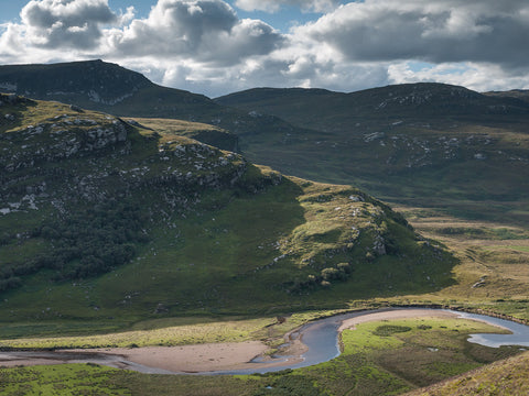 Creag na Luibe Baine and Strathmore from Ben Hope Sutherland