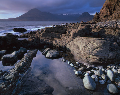 cuillin ridge on the isle of skye from elgol