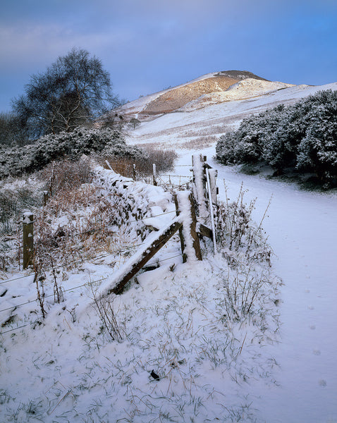 Snow on The Eildon Hills, Scottish Borders