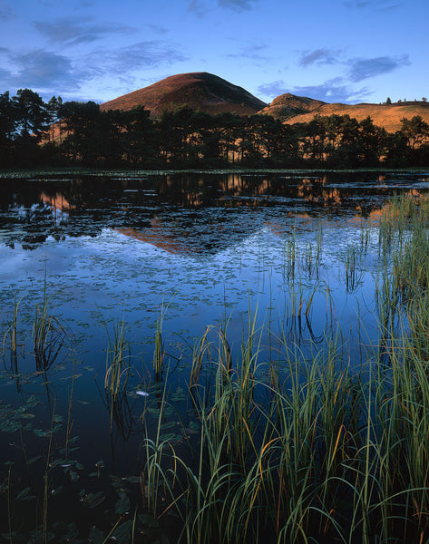 Eildon Hills from Bowdenmoor Loch, Scottish Borders