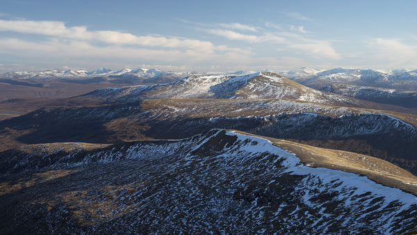 Fionn Bheinn and Strathconon Hills from A Chailleach in The Fannaichs