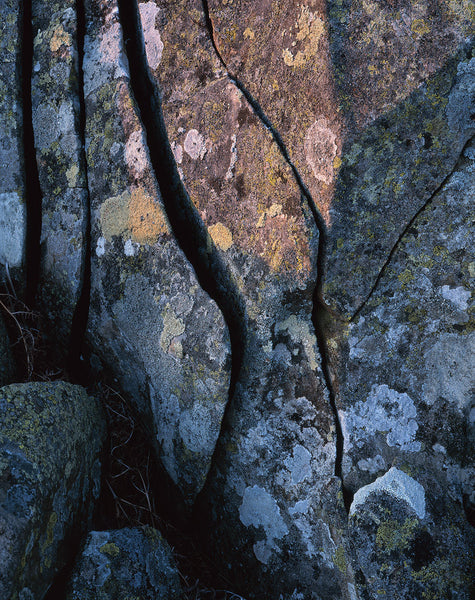 abstract photograph of rocks