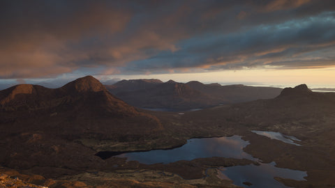Inverpolly mountains Cul Beag Stac Pollaidh and Coigach mountains from Cul Mor