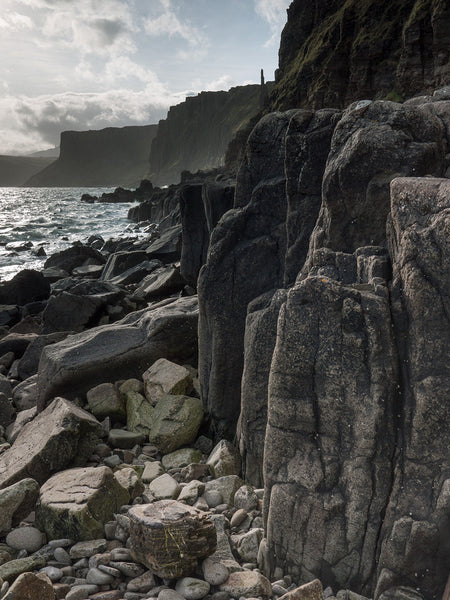 coastline and cliffs on the isle of skye scotland