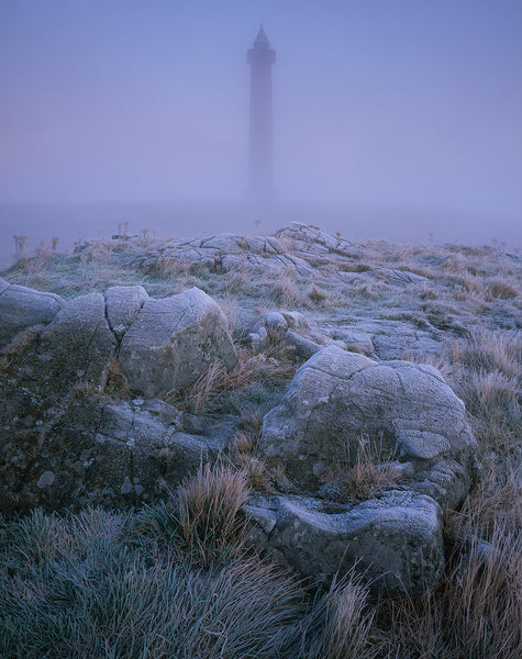 Peniel Heugh monument in The Scottish Borders on a frosty morning
