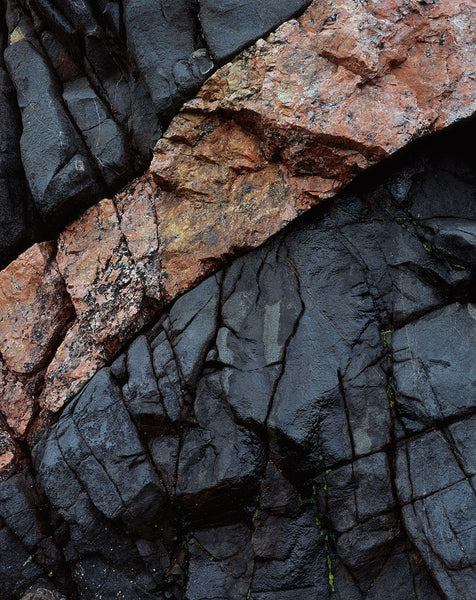 Rock abstract at Polin Bay in Sutherland