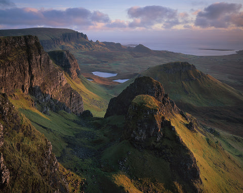 The Quiraing, Dùn Dubh and Cleat on The Trotternish Ridge, Isle of Skye