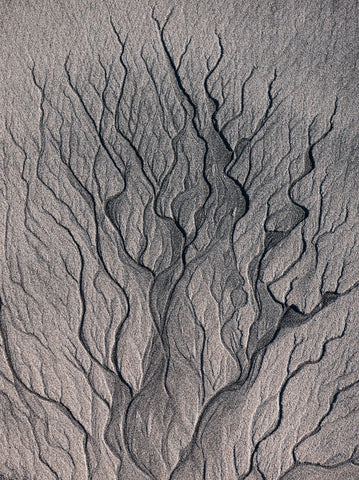 Abstract photograph of sand patterns on Oronsay Island Isle of Skye