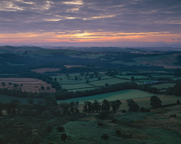 scottish borders landscape at dawn