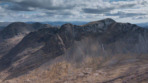Sgorr Ruadh from Beinn Liath Mhor in the coulin forest