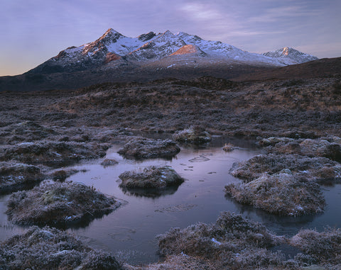 sgurr nan gillean mountain near sligachan on the isle of skye in winter