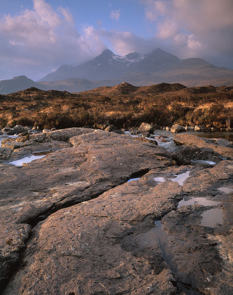 sgurr nan gillean mountain on the isle of skye and the river sligachan