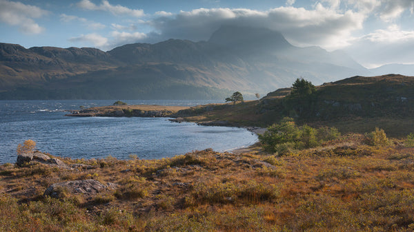 Slioch mountain in Torridon and Loch Maree