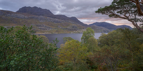Slioch mountain in Torridon Wester Ross above Loch Maree