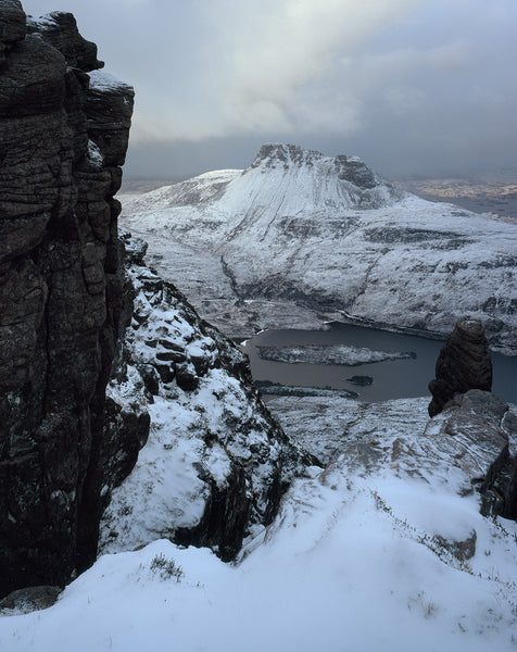 Stac Pollaidh Inverpolly from Sgorr Tuath in winter