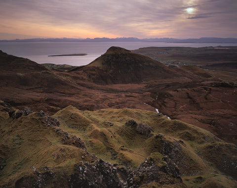 staffin bay on the isle of skye from the quiraing