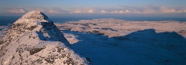 suilven mountain in assynt, sutherland in winter