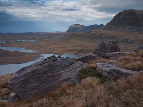 suilven mountain in assynt from cul beag inverpolly sutherland