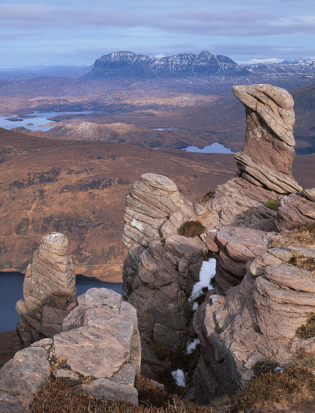 Suilven Assynt from Sgorr Tuath in Coigach