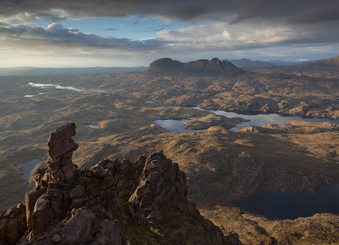 suilven in assynt from cul mor pinnacle