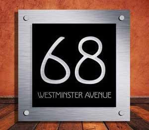 The Acrylic Master House Sign Exec Designer House Number Plaque