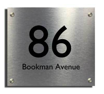 The Acrylic Master House Sign Silver 2 Part Acrylic Design Executive  Designer House Number Plaque