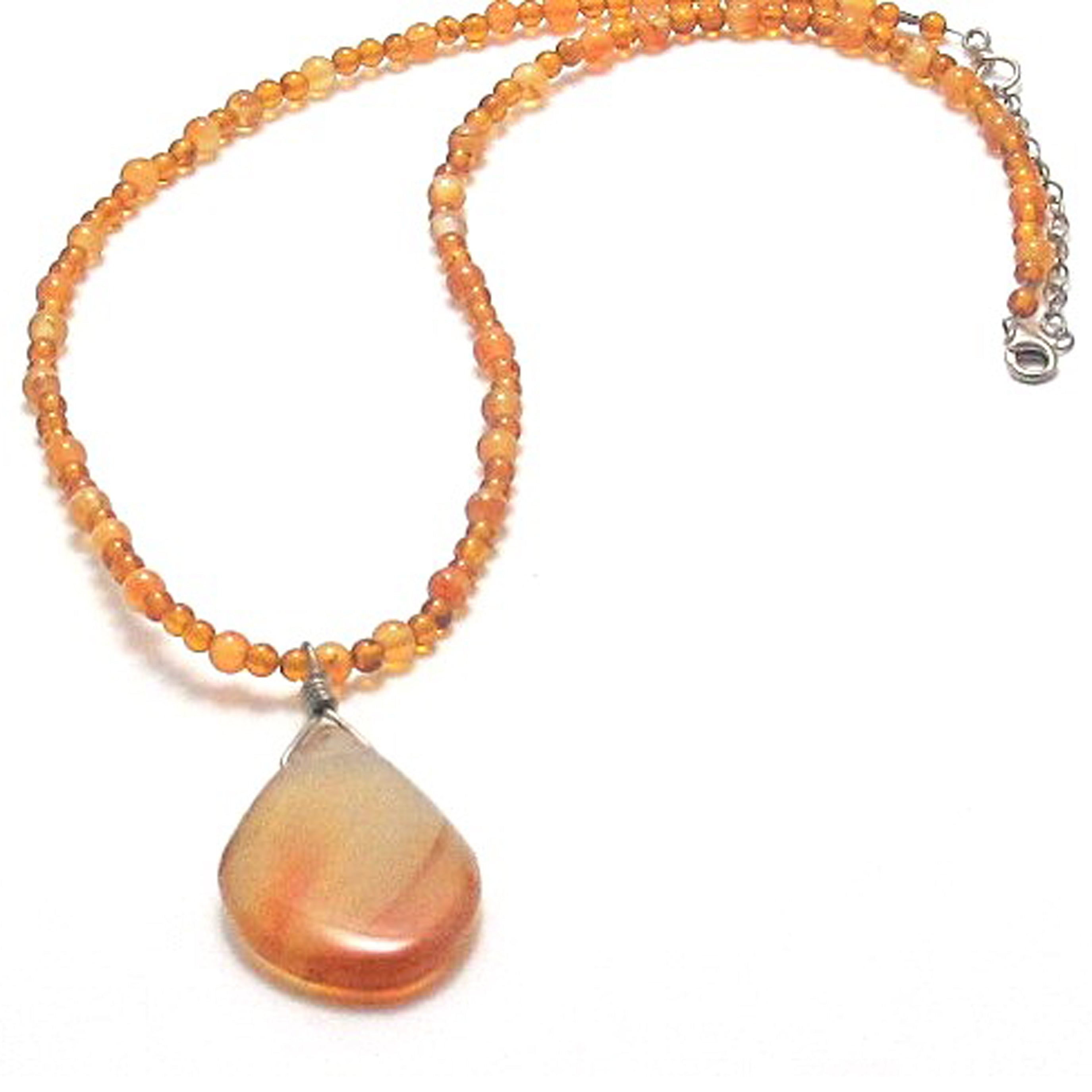 Amber with red agate pendant necklace brenna stone jewelry amber with red agate pendant necklace brenna stone jewelry aloadofball Choice Image