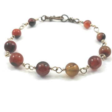 Sterling Silver and Agate Bracelet - Brenna Stone Jewelry