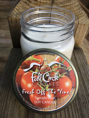 Tomato Leaf Soy Candle