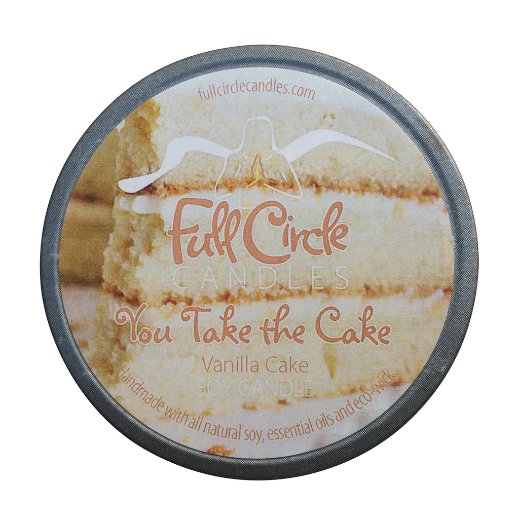 Vanilla Cake Soy Candle | Full Circle Candles  | You Take the Cake