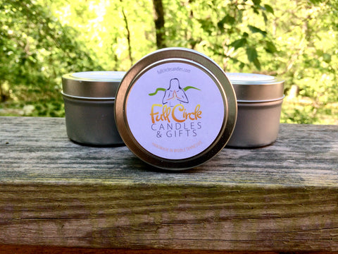 Unscented Soy Candles  - 2oz or 4oz travel size tins! Great for Yoga Class or Gathering