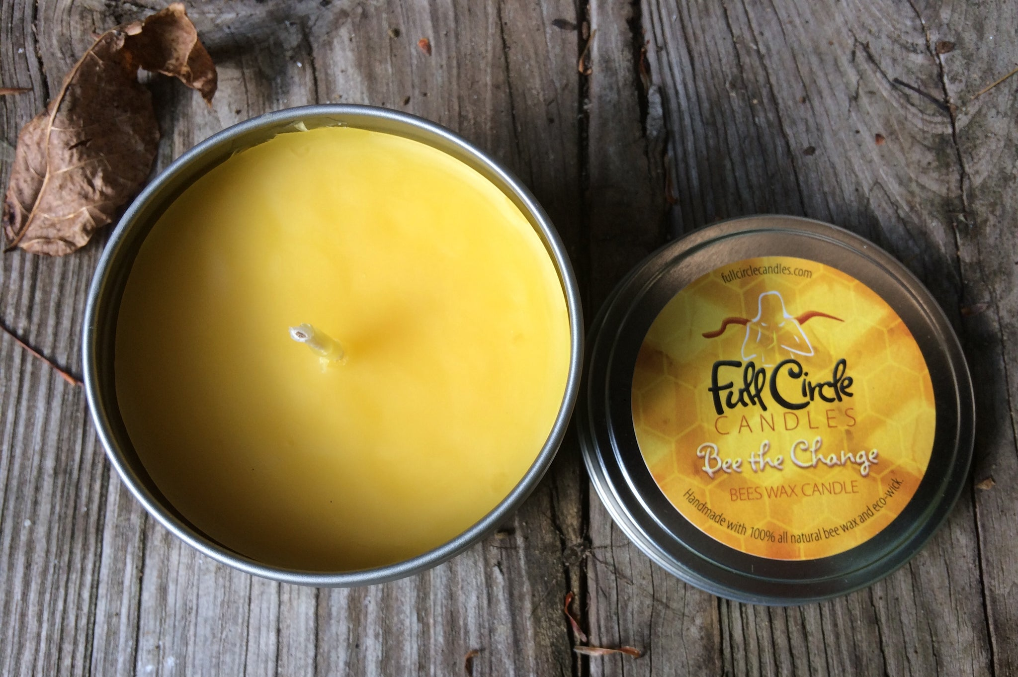 Beeswax Candle | Bee the Change | 8oz Tin