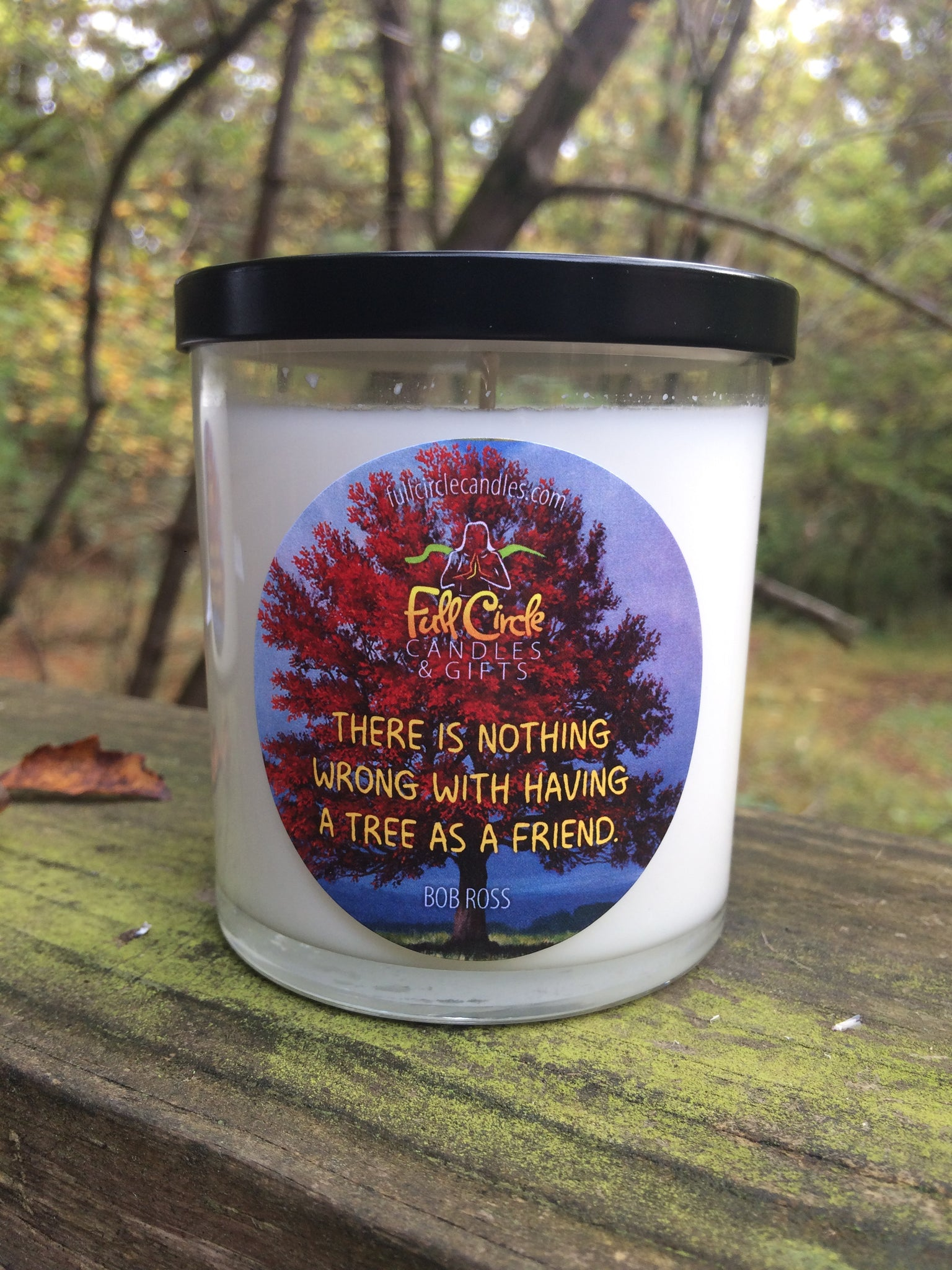 Bob Ross Themed Soy Candle | Gift Back Candles | Planting Trees