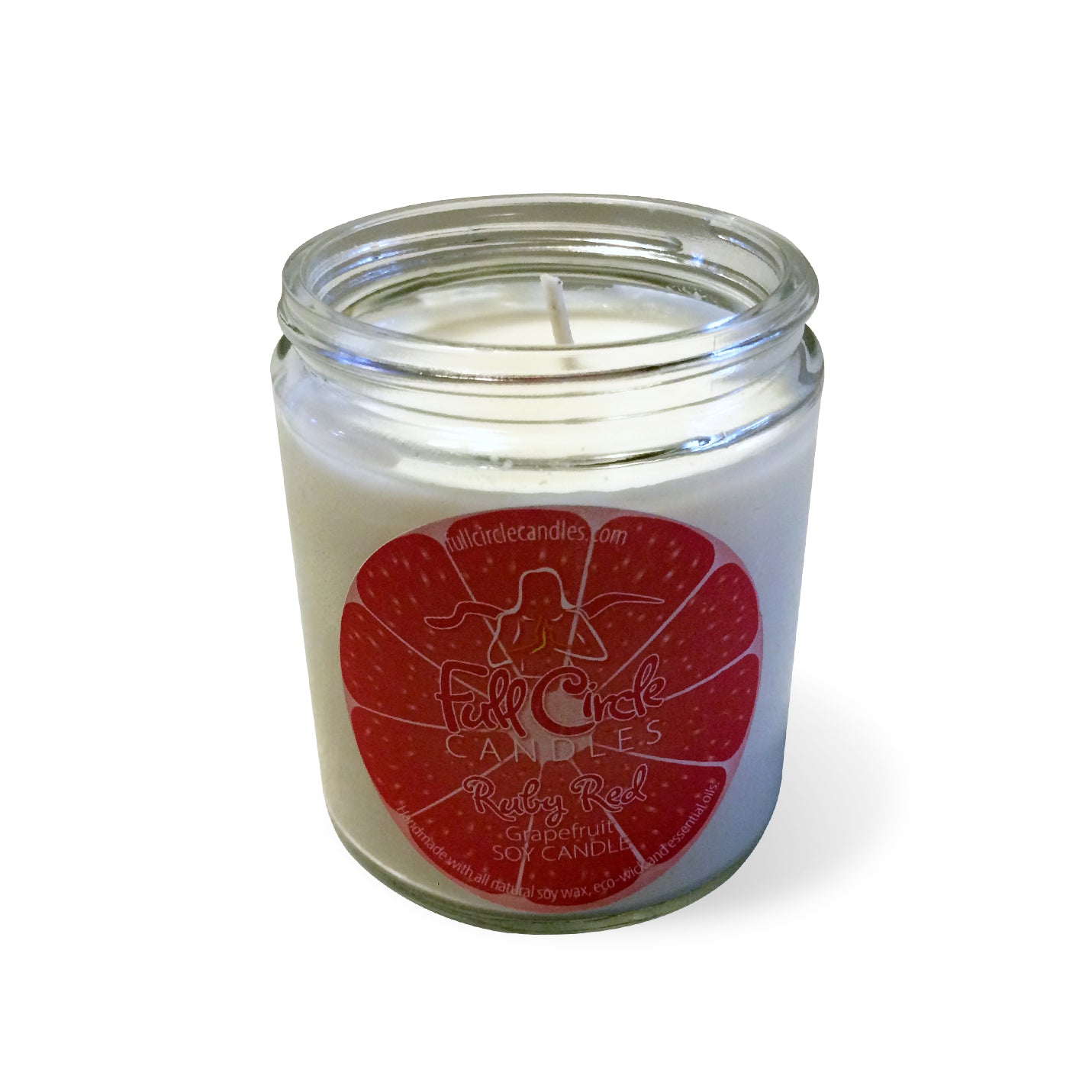 Grapefruit Soy Candle | Ruby Red | Full Circle Candles