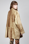 1980s Gold Suede Coat